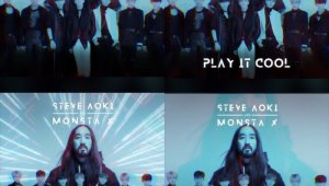 '청량 EDM' 몬스타엑스X스티브아오키, 컬래버곡 'Play It Cool' 英버전 프리뷰 공개