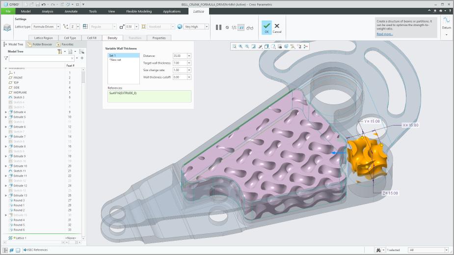 크레오 6.0은 적층제조 설계 툴과 연결도구는 전반적인 제조 프로세스를 지원한다. 이미지제공=PTC