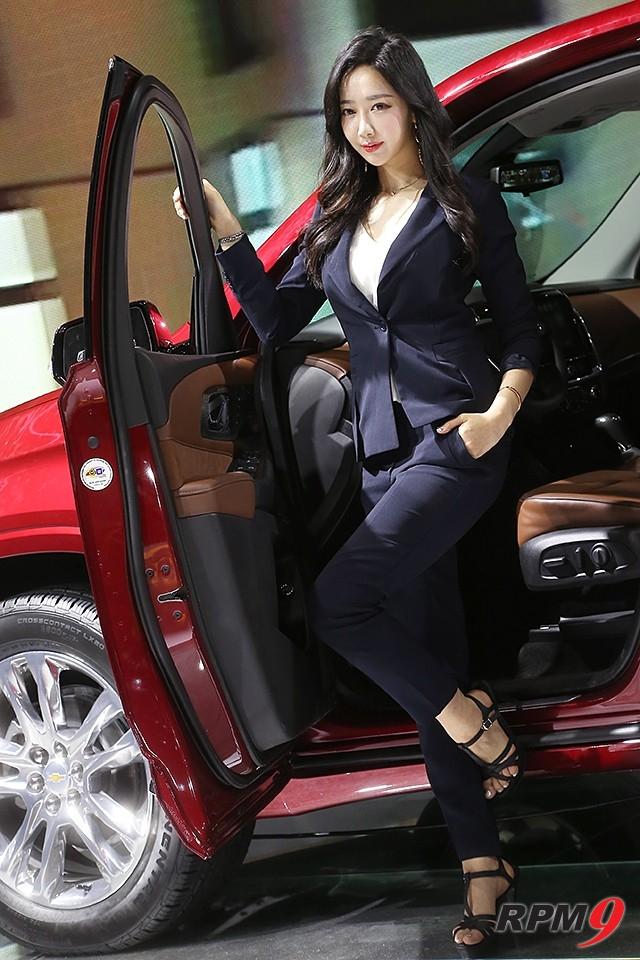 2019서울모터쇼 쉐보레 부스 트래버스 차량 모델 신해리 (사진 황재원 기자)