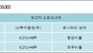 [ET투자뉴스][원익홀딩스 지분 변동] NH투자증권(주)8.04%p 증가, 8.04% 보유