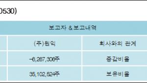 [ET투자뉴스][원익홀딩스 지분 변동] (주)원익 외 4명 -8.11%p 감소, 45.45% 보유