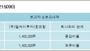 [ET투자뉴스][한컴유니맥스 지분 변동] (주)엘케이투자1호조합7.12%p 증가, -% 보유