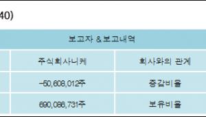 [ET투자뉴스][대한전선 지분 변동] 주식회사니케 외 8명 -5.91%p 감소, 80.57% 보유