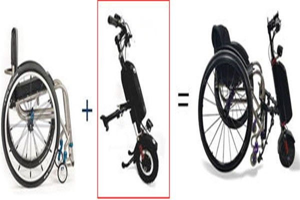 Rscare Service's manual wheelchair equipped with an electric assistance kit