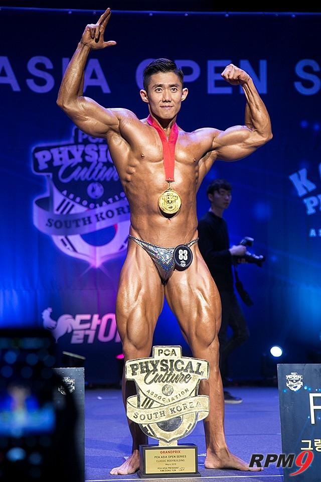 제7회 PCA코리아 클래식 보디빌딩 그랑프리 부문 우승 조범성 선수 (사진 황재원 기자)