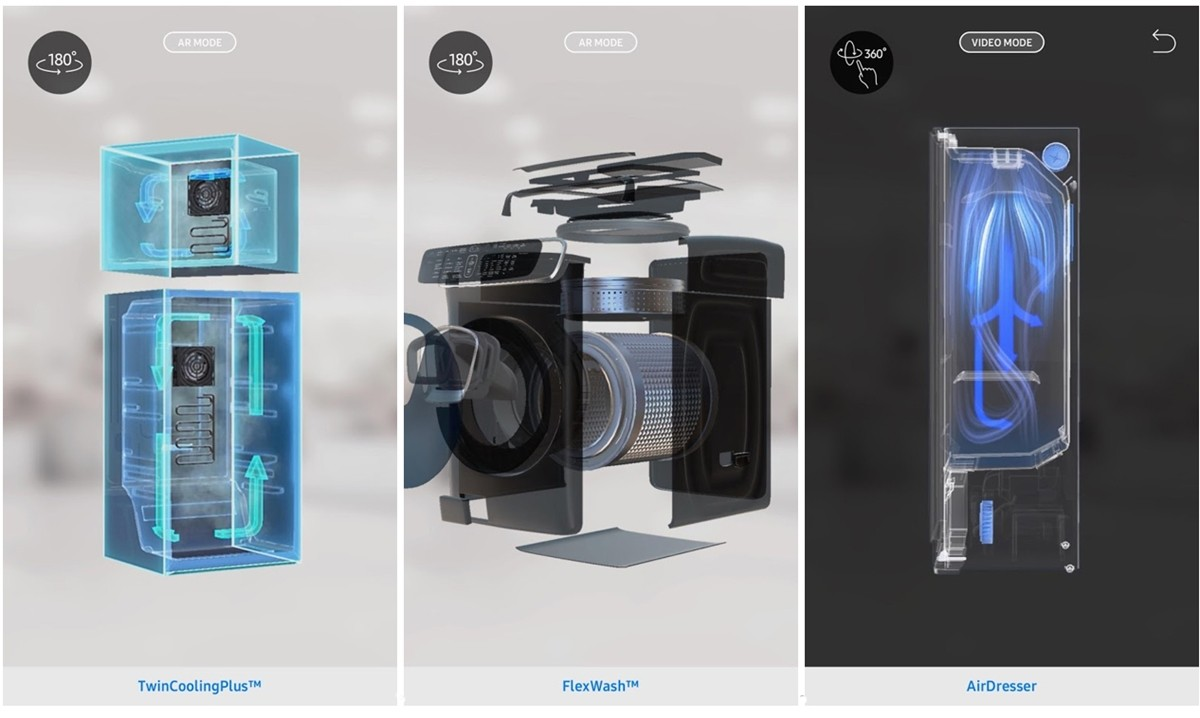 PTC 뷰포리아 기반 삼성전자 증강현실 모바일 애플리케이션 Samsung HA AR, 사진제공=PTC