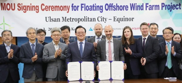 울산서 '부유식 해상풍력 사업' 순항중