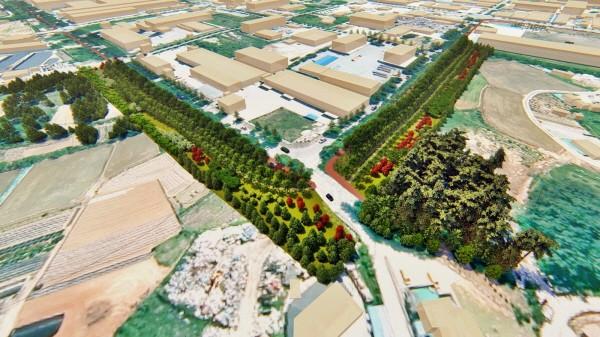전북 정읍시, 미세먼지 낮추기 위한 '녹지대 경관개선숲' 조성