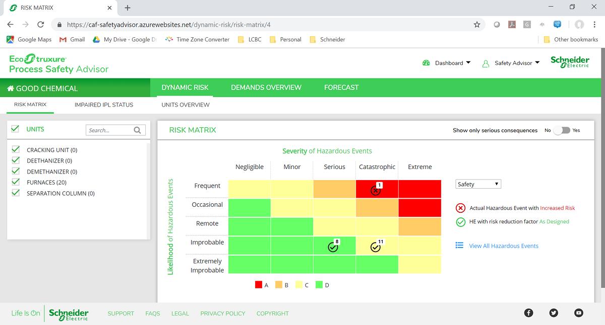 슈나이더일렉트릭 실시간 기업 자산 및 위기관리 모니터링이 가능한 '에코스트럭쳐 프로세스 세이프티 어드바이저 (EcoStruxure Process Safety Advisor)'