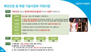 SBA, 패션 융·복합 기술사업화 지원사업 진행…내달 13일 접수마감