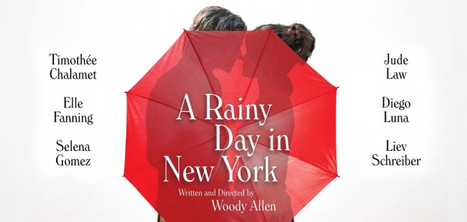 우디 앨런의 신작 '어 레이니 데이 인 뉴욕' 포스터 이미지