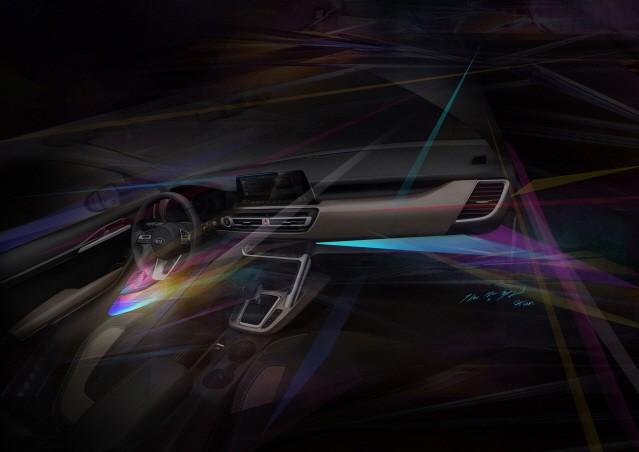 기아차, 하이클래스 소형 SUV 내장 렌더링 이미지 공개