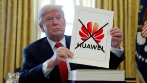 트럼프, 화웨이 수출 금지 '효과만점'…무역전쟁서 강력한 무기 획득