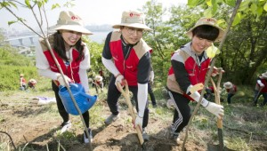 롯데렌탈, 연간 500그루 나무 심는다…'나무 숲 조성 캠페인' 진행