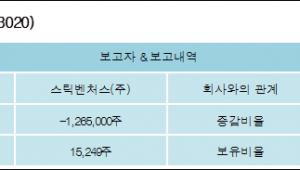 [ET투자뉴스][디케이앤디 지분 변동] 스틱벤처스(주) 외 1명 -16.64%p 감소, 0.2% 보유