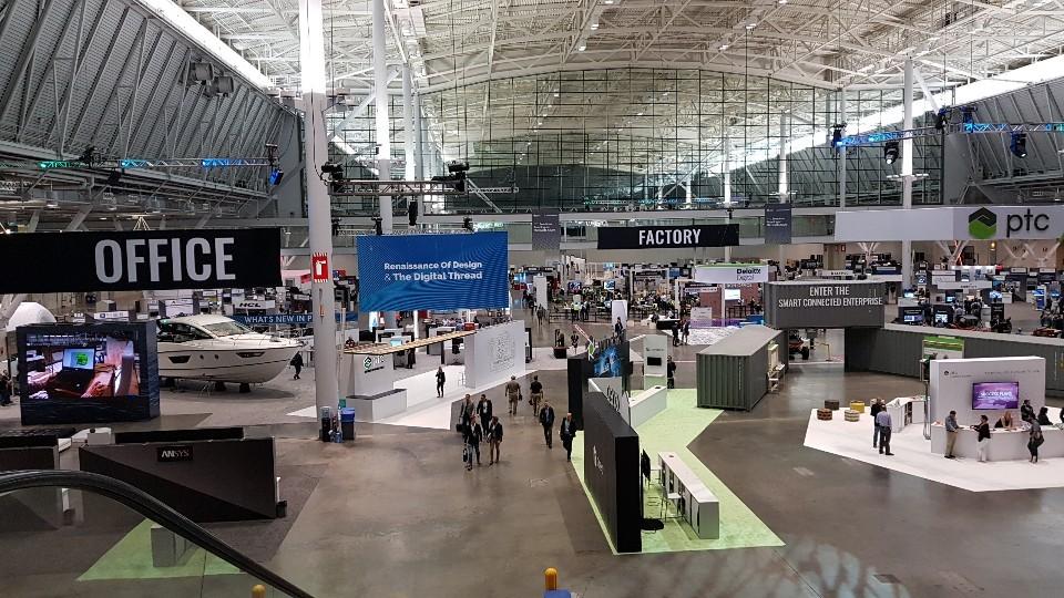 PTC '라이브웍스 2019'이 개최된 미국 보스턴 BCEC 현장