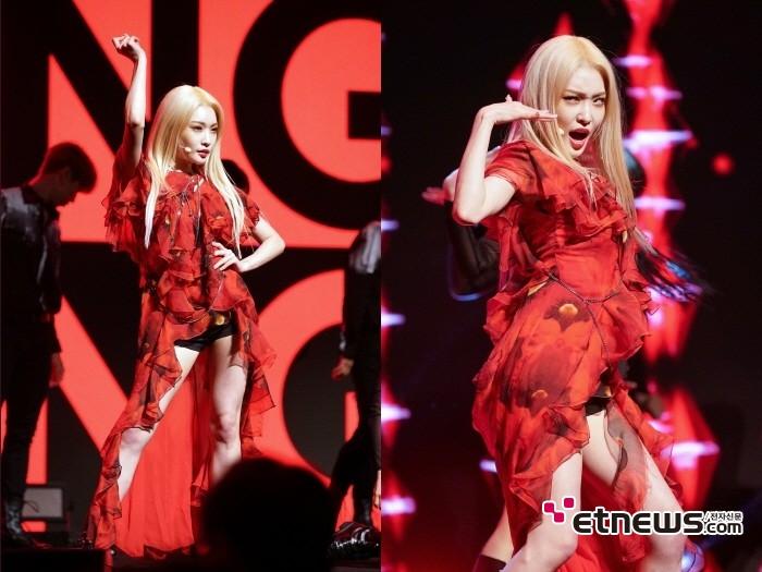 24일 서울 마포구 서강대학교 메리홀에서는 청하 미니4집 'Flourishing(플러리싱)' 발매기념 쇼케이스가 진행됐다.