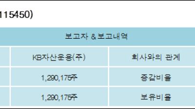[ET투자뉴스][지트리비앤티 지분 변동] KB자산운용(주)5.26%p 증가, 5.26% 보유