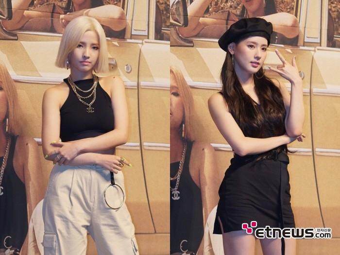 26일 서울 용산구 블루스퀘어 아이마켓홀에서는 (여자)아이들 디지털싱글 'Uh-Oh(어오)' 발매기념 쇼케이스가 열렸다. (왼쪽부터) 멤버 소연, 미연.