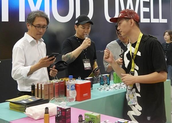 [VAPE KOREA EXPO 2019] 네스티쥬스, 프리미엄 솔트형 액상 선봬