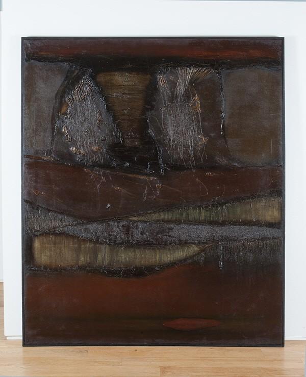 박장년 '핵사체 64-H-7, 161.5×130cm, 1964, 화포, 혼합재료'. 사진=Gallery ANC 제공