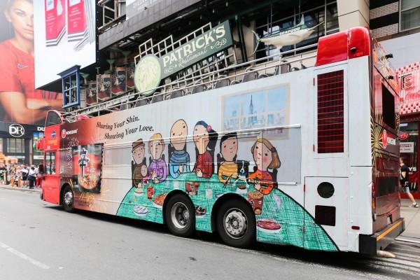 뉴욕 맨해튼 신라면 버스