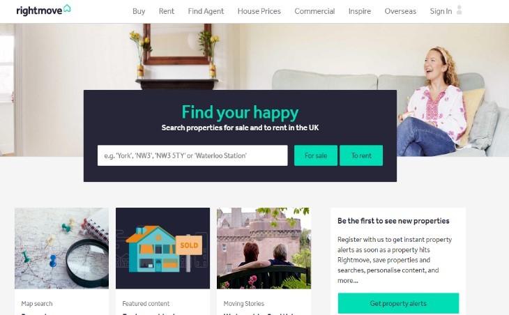 영국에서 유명한 부동산 관련 사이트 롸잇무브