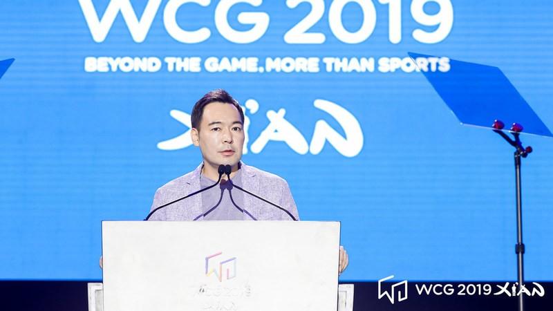 'WCG 2019 시안' 폐회사를 하는 이정준 WCG 대표 [사진=WCG2019시안]