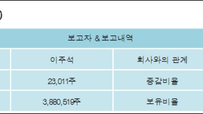 [ET투자뉴스][링네트 지분 변동] 이주석 외 8명 0.16%p 증가, 25.98% 보유