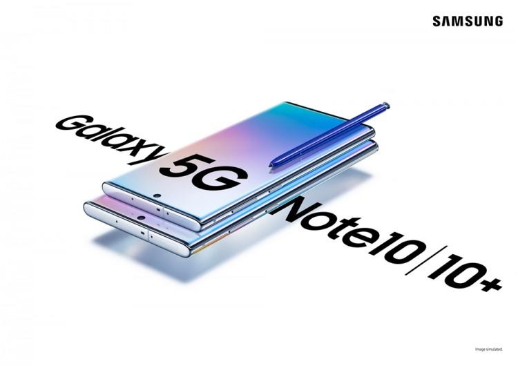 국내 출시되는 갤럭시 노트 5G와 갤럭시 노트+ 5G 제품 이미지 [사진=삼성전자]