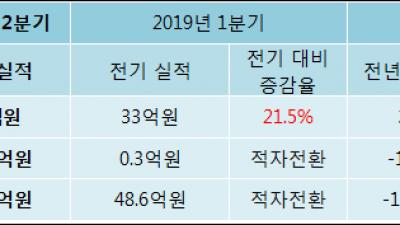 [ET투자뉴스]아이엠텍, 19년2분기 실적 발표