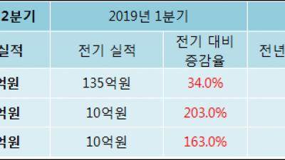 [ET투자뉴스]레이, 19년2분기 실적 발표