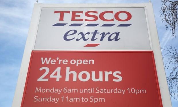월요일 새벽6시에 오픈해 토요일 밤 10시에 문닫는 Tesco extra, the guardian 제공