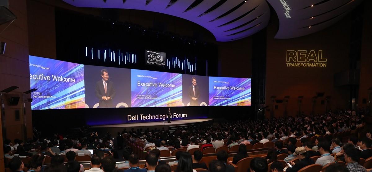 '델 테크놀로지스 포럼 2019'에서 환영사를 말하고 있는 김경진 총괄사장, 사진제공=델 테크놀로지스