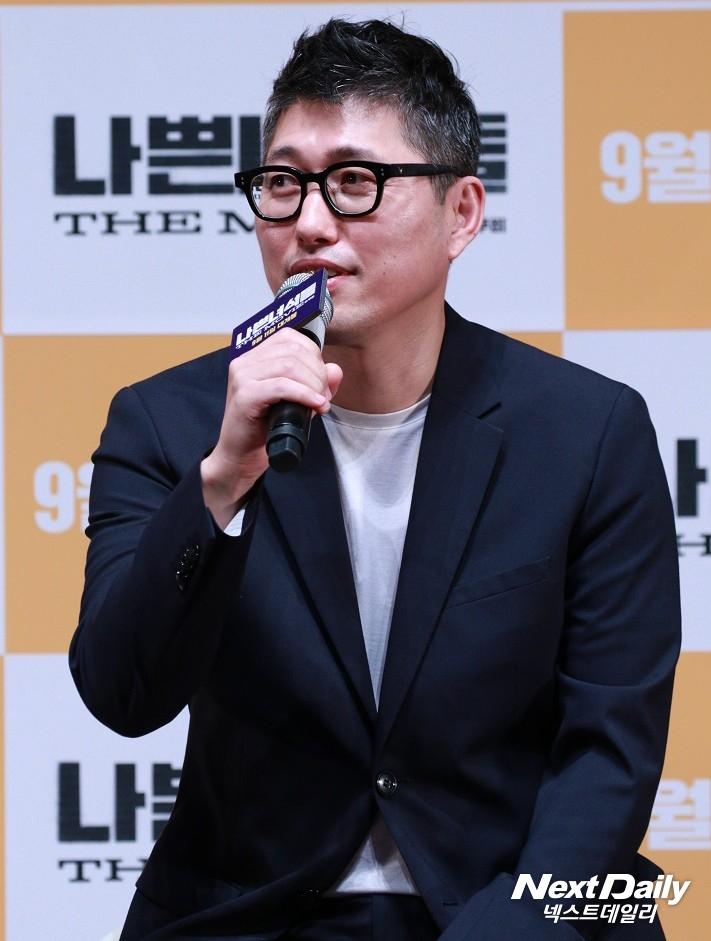 영화 '나쁜 녀석들: 더 무비'의 'NEW 멤버 선발대회' 쇼케이스에 참석한 손용호 감독. (사진 = 김승진 기자)