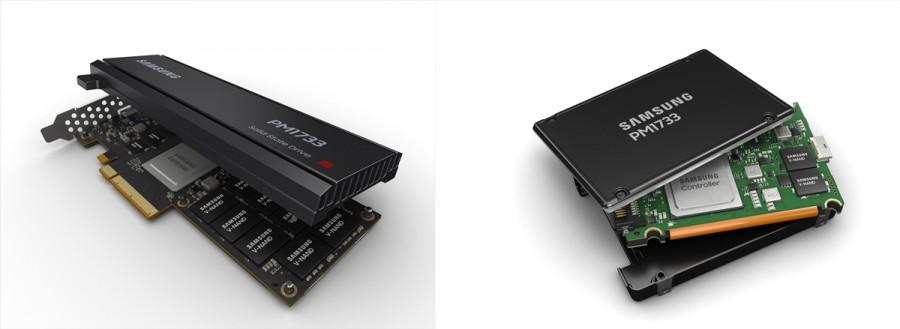 초고용량 SSD_HHHL(왼쪽)과 초고용량 SSD 2.5인치 U.2 [사진=삼성전자]