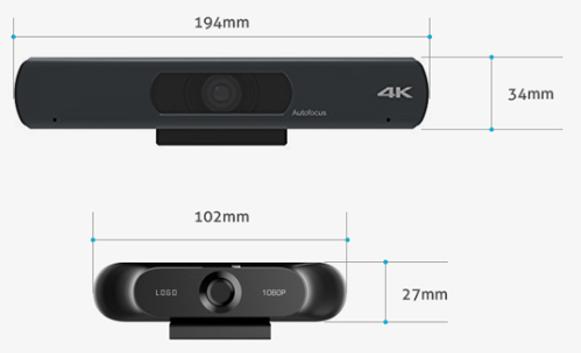 기존 4K제품과 사이즈 비교
