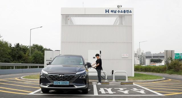 현대자동차, H 하남 수소충전소 개소
