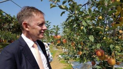 엔비사과 국내 재배 10년… 뉴질랜드 대사 충남 예산 방문