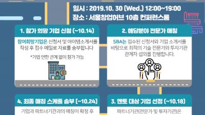 서울산업진흥원, 창업기업 비즈 네트워크 'ITR(lnvest Tech Relation)' 이달 30일 개최