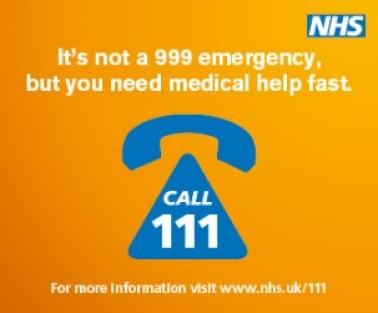 그림 2. 999에 응급으로 전화하기 전, 111에 전화해 지금 상황이 응급인지 아닌지 문진이 가능하다. 이미지제공=NHS