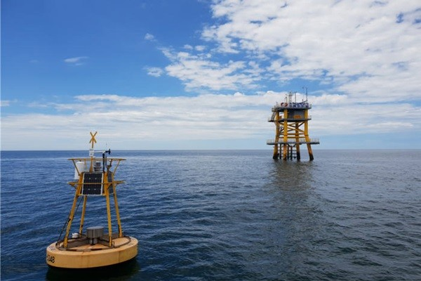 Offshore wind power environmental monitoring platform