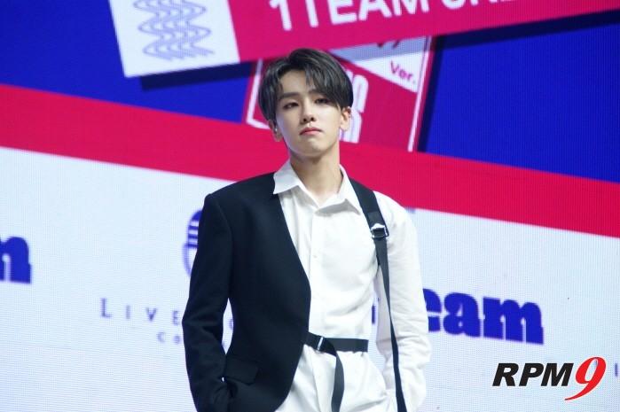 6일 서울 광진구 예스24 라이브홀에서는 1TEAM(원팀) 새 미니앨범 'ONE' 발매기념 쇼케이스가 열렸다. 리더 루빈.