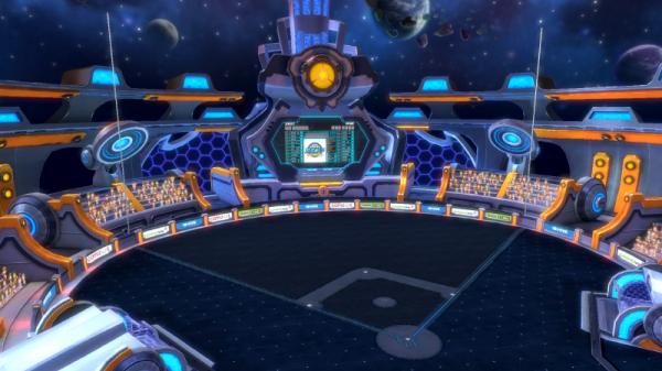 우주 분위기 물씬 풍기는 게임빌프로야구 슈퍼스타즈 스타디움.