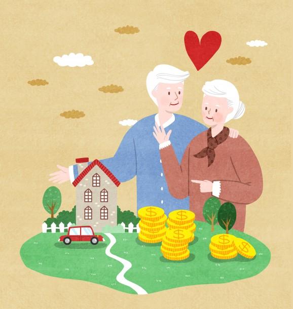 정부는 주택연금 연령을 단계적으로 현 60세에서 55세로 낮출 계획이다. 출처=게티이미지뱅크
