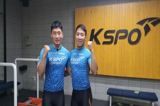 15년만에 경륜훈련원을 조기졸업한 임채빈(오른쪽), 옆은 동기 장경구.