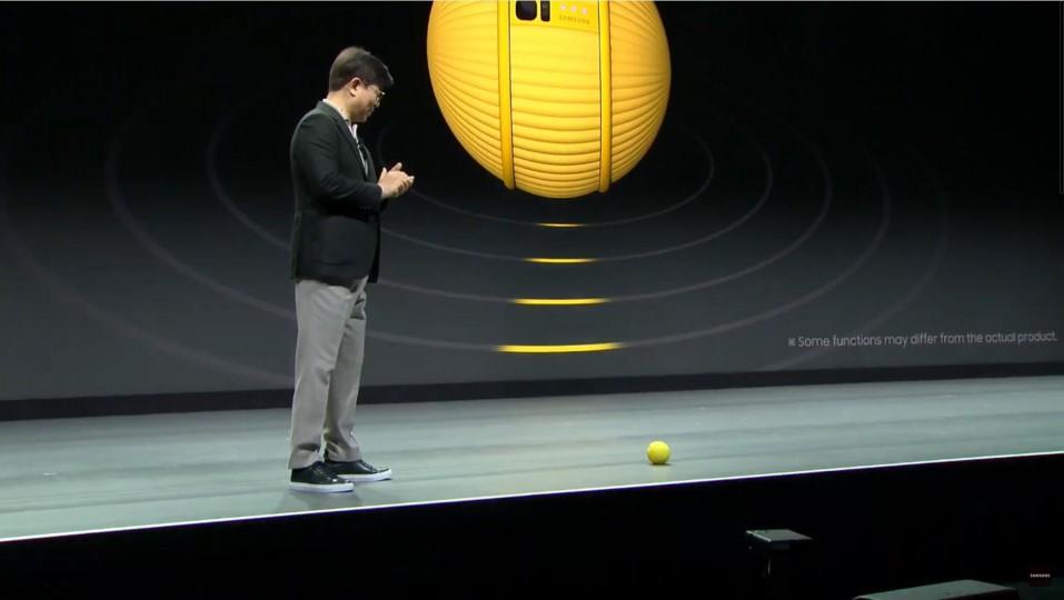 김현석 사장이 지능형 컴퍼니언 로봇 볼리를 소개하고 있다. [사진=삼성전자]