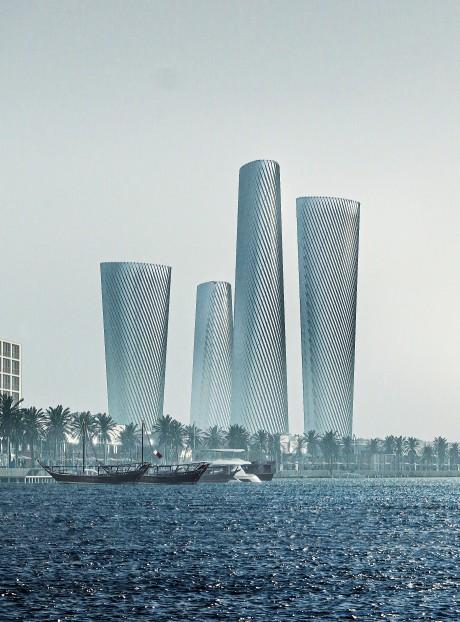 카타르 루사일 타워 PLOT3(맨 오른쪽), PLOT4(왼쪽에서 3번째)