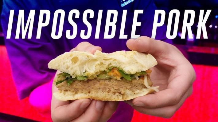 식물성 인조고기 업체 '임파서블 푸즈', 식물성 돼지고기 '임파서블 포크' 선보여