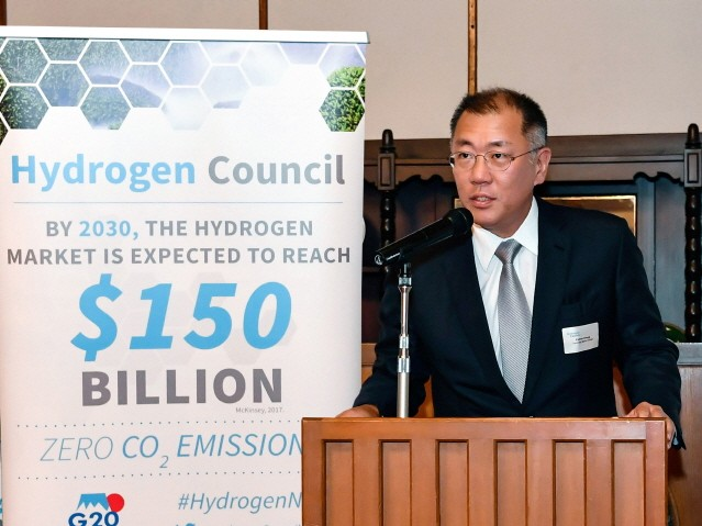 """정의선 부회장 """"수소 생태계는 무탄소사회로 가는 가장 빠른 방법"""""""